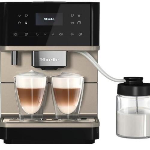 Cafetiere incorporabile si freestanding Espressor CM 6360 negru/metalic MilkPerfection