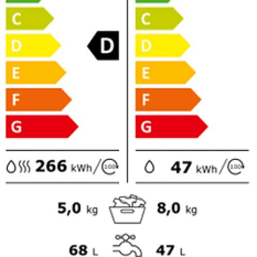 Masini de spalat cu uscator 2in1 Masina cu uscator incorporat WTD160 WCS 8/5 kg