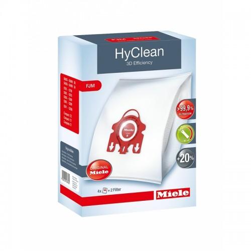 """Filtre si Saci de praf Miele Set 4 saci tip """"FJM"""" - HyClean 3D - 3,5litri"""
